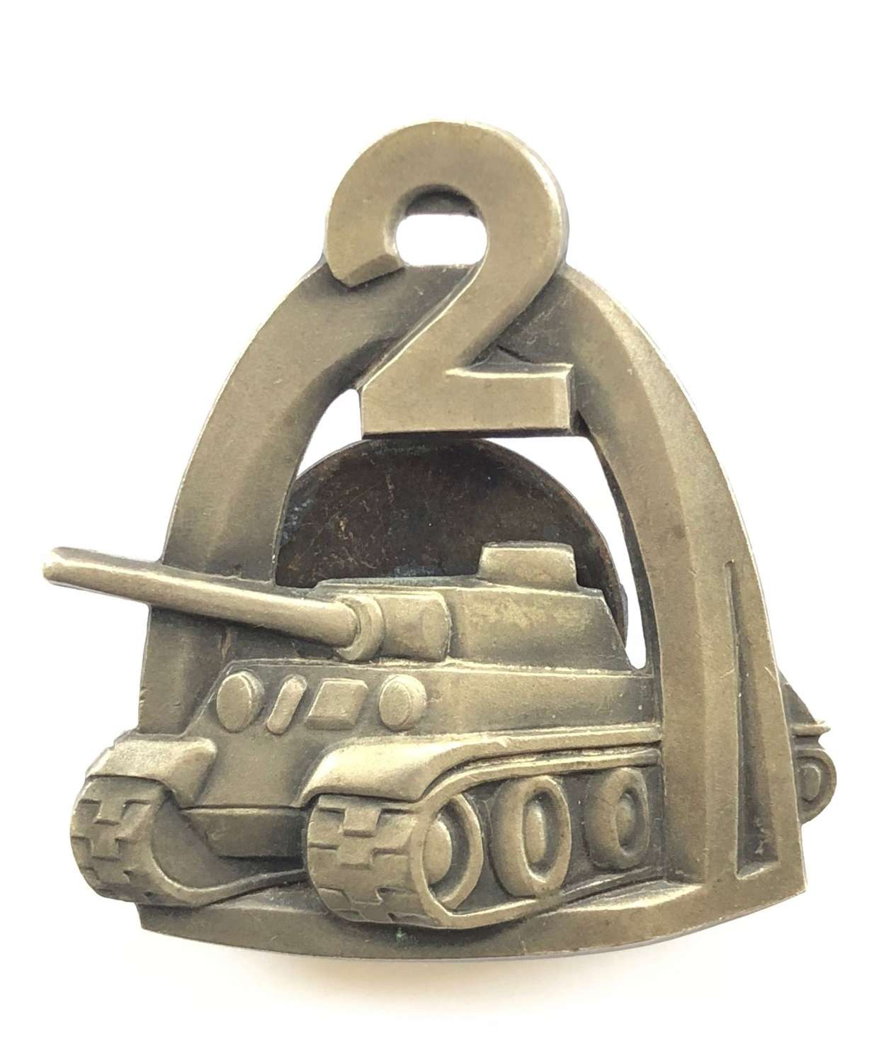 Polish 2nd Warsaw Armoured Division WW2 breast badge.