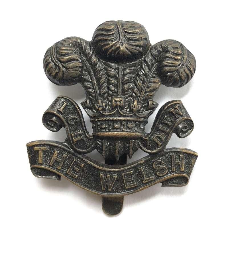 7th (Cyclist) Bn. Welsh Regiment OR's cap badge circa 1908-21