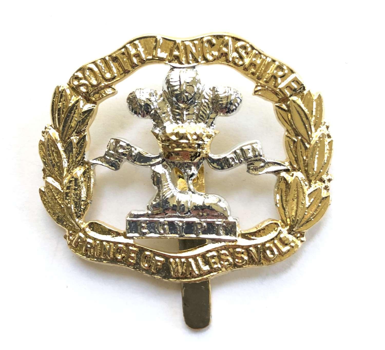 South Lancashire Regiment anodised cap badge circa 1952-58