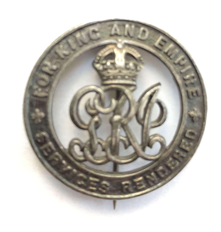 Labour Corps (late Gordon Highlanders) WW1 Silver War Badge