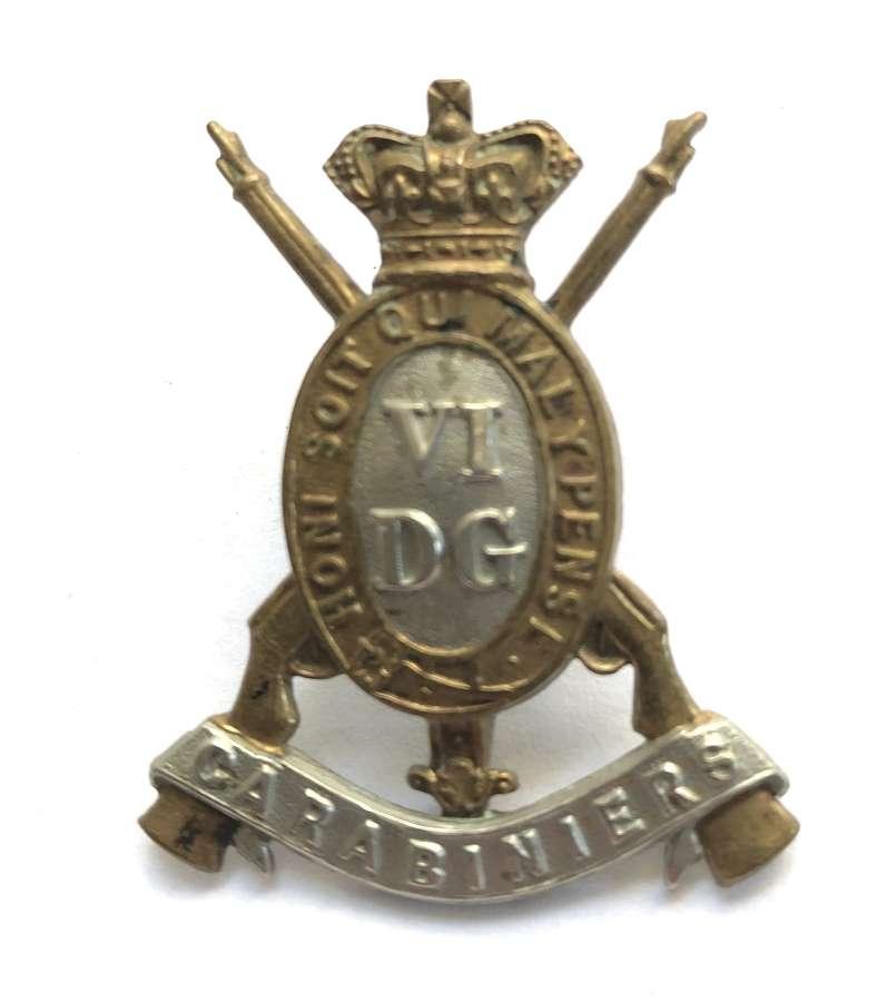 6th Dragoon Guards (Carabiniers) Victorian OR's cap badge c1896-01