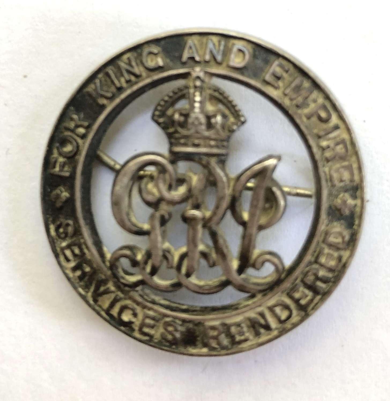 RND Nelson, Gallipoli casualty Silver War Badge