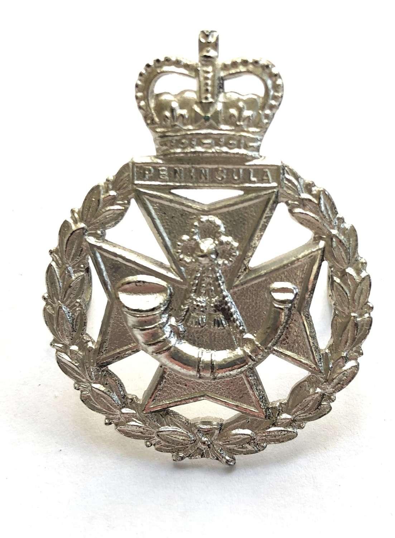 Green Jackets Brigade Officer's cap badge circa 1958-70.