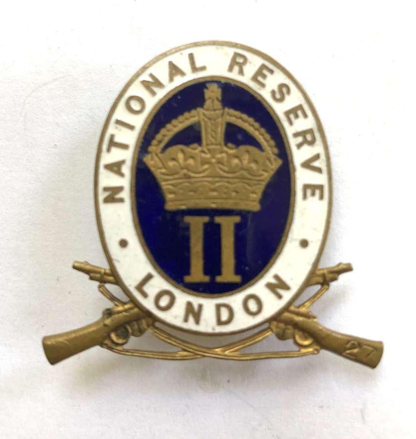 ''Wandsworth'' London National Reserve enamelled mufti / lapel badge