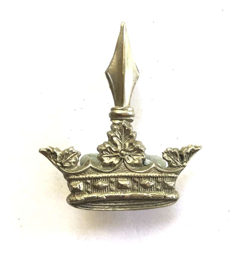 Surrey Imperial Yeomanry scarce OR's white metal cap badge