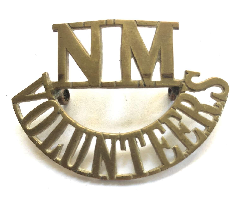 NM / VOLUNTEERS WW1 National Motor Volunteers VTC shoulder title