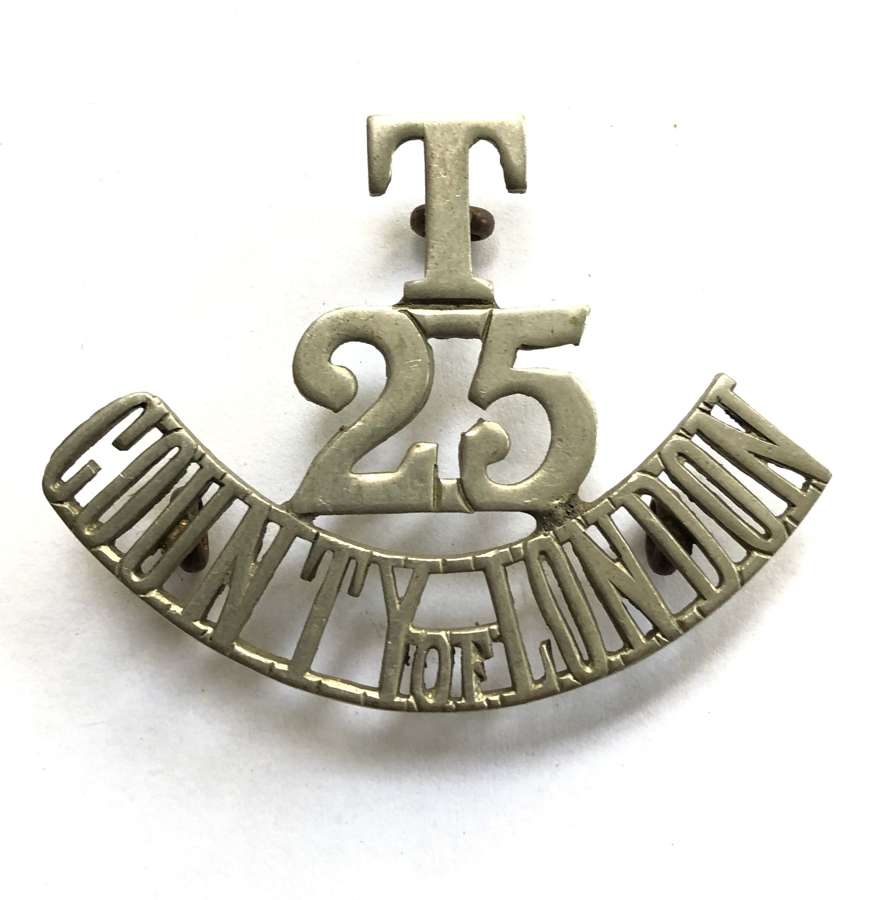 T / 25 / COUNTY OF LONDON WW1 Cyclist Bn shoulder title