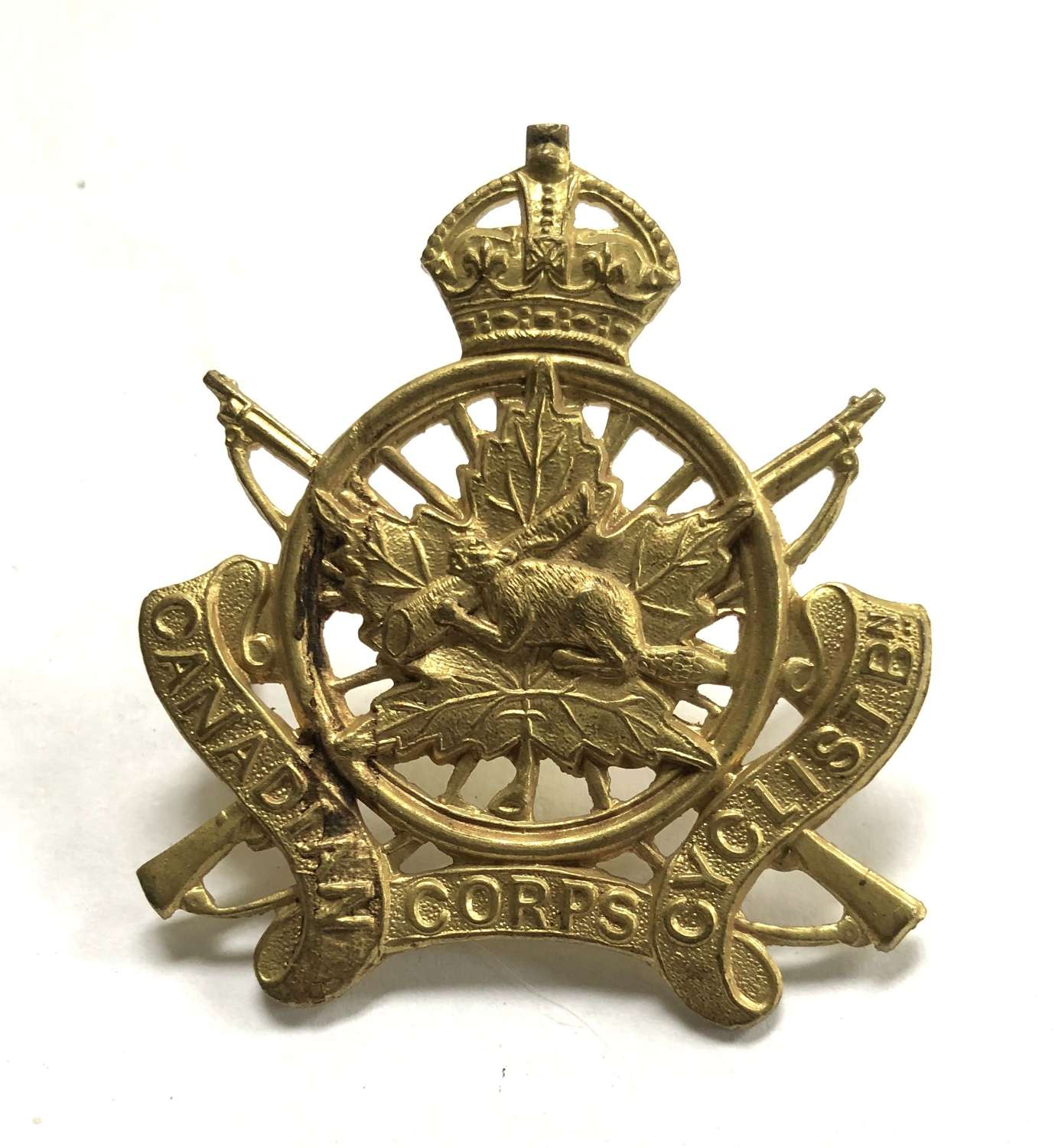 Canadian Cyclist Corps WW1 cap badge