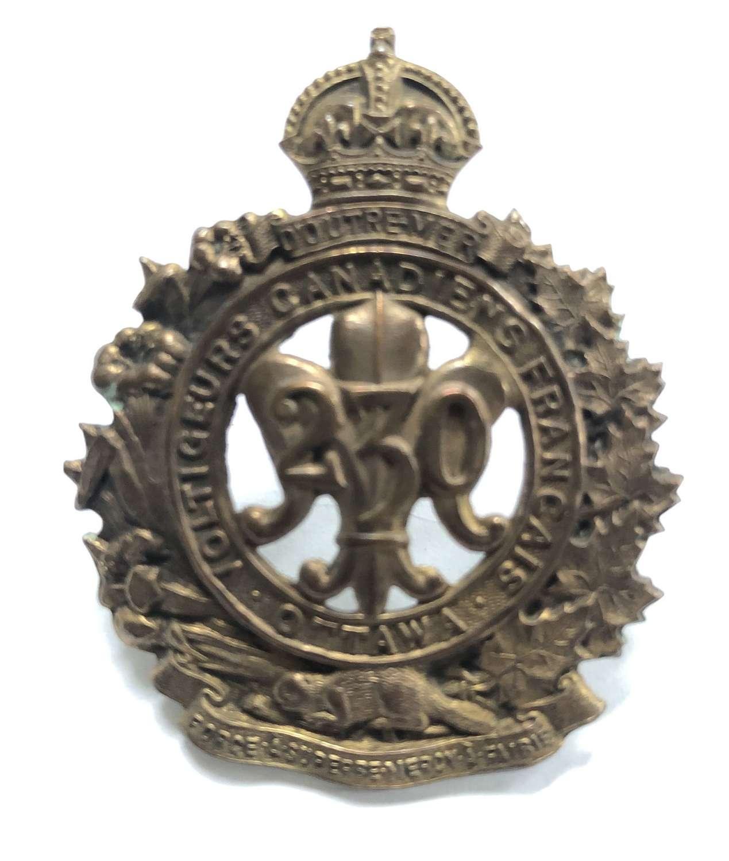Canadian 230th Bn CEF WW1 bronzed cap badge