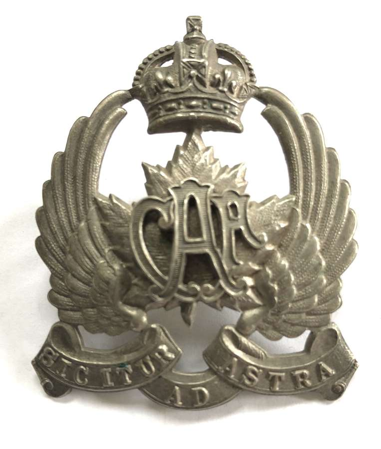 Canadian Air Force 2nd pattern cap badge circa 1920-24