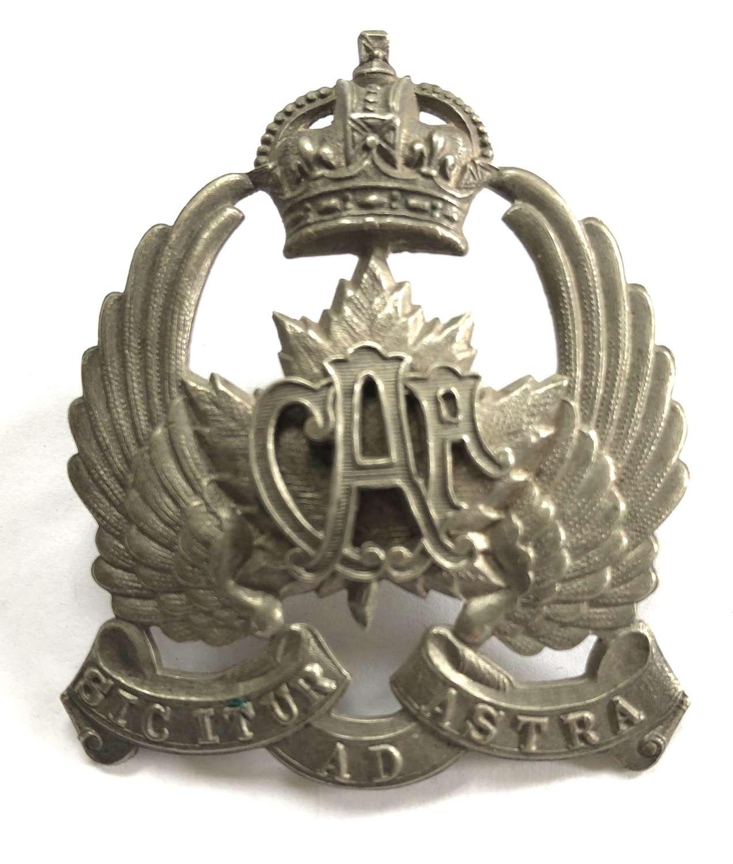 Canadian Air Force 2nd pattern cap badge circa 1920-24