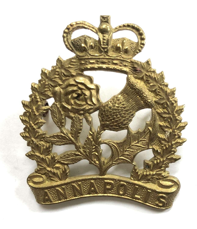 Canadian Annapolis Regiment cap badge circa 1920-36