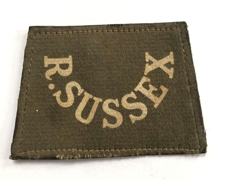 R. SUSSEX WW1 slip-on shoulder title