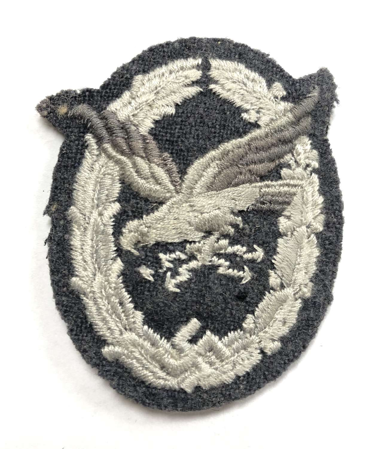 German Third Reich Luftwaffe Air Gunner / Radio Operator cloth badge