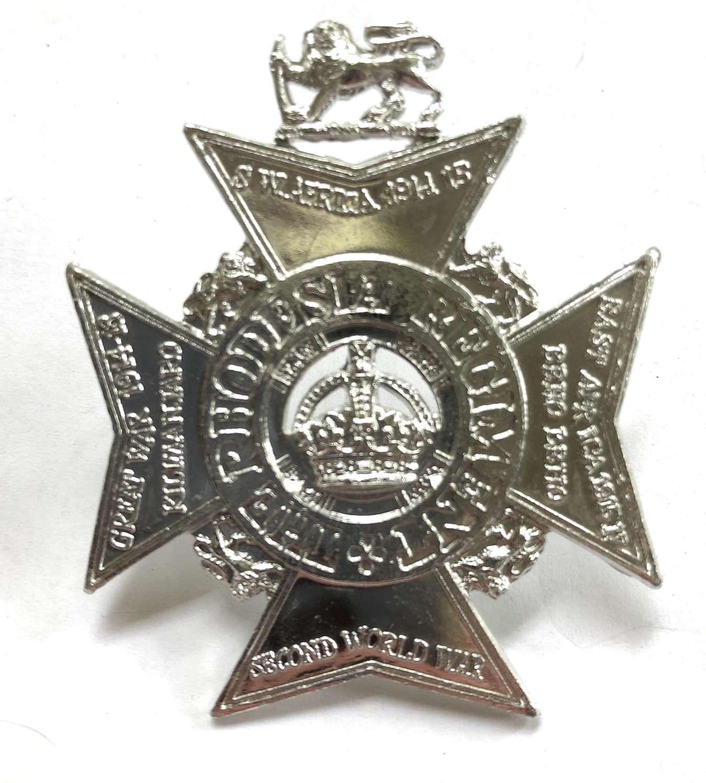 Rhodesia Regiment anodised cap badge circa 1972-80