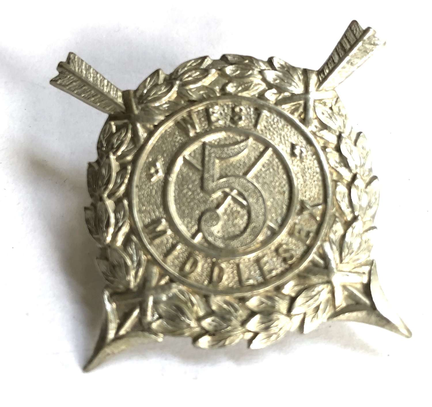 5th West Middlesex Volunteer Rifle Corps (Harrow Rifles) FS cap badge