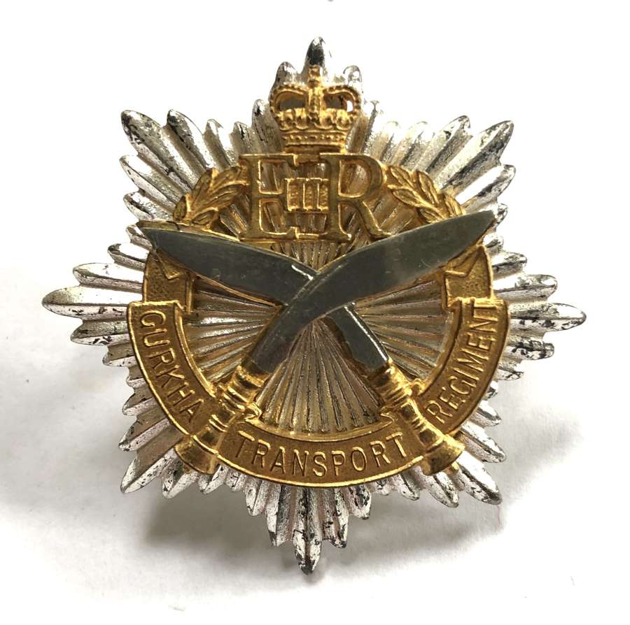 Gurkha Transport Corps Officer's cap badge circa 1965-92