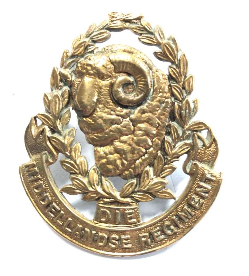 South Africa. Die Middellandse Regiment post 1935 cap badge