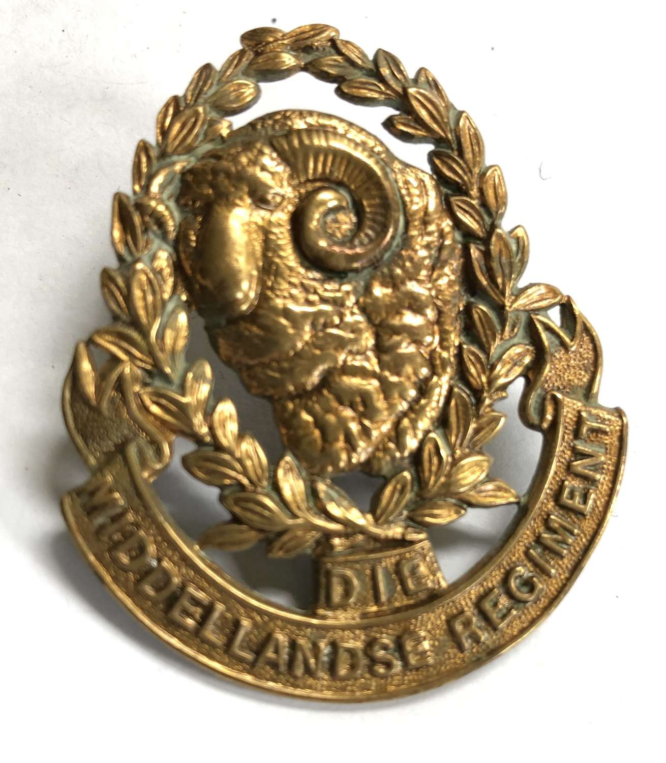 South Africa. Die Middellandse Regiment post 1935 cap badge