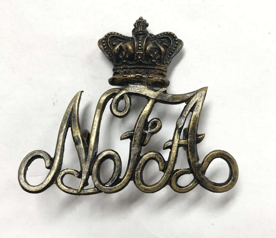 South Africa. Natal Field Artillery Victorian slouch hat badge