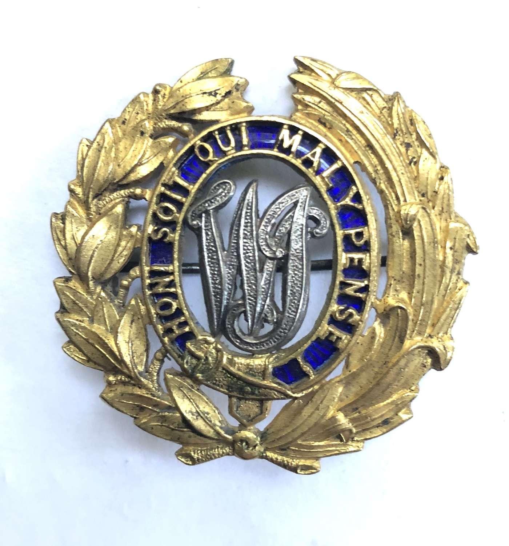 West India Regiment Officer's helmet pagri badge