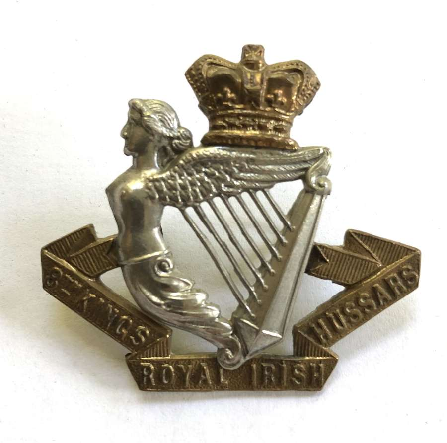 8th King's Royal Irish Hussars Victorian cap badge circa 1896-1901