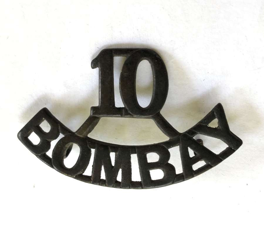 10 / BOMBAY pre 1903 Indian Army shoulder title