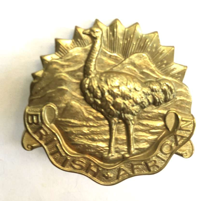 British African Squadron King's Colonials slouch hat badge