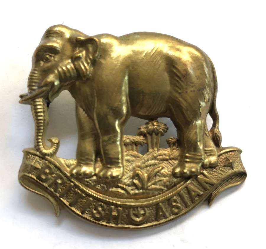 British Asian Squadron King's Colonials Boer War slouch hat badge