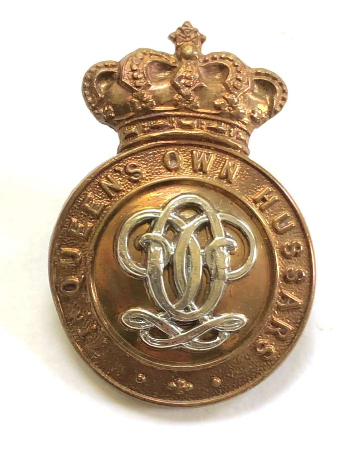 7th Queen's Own Hussars Victorian OR's cap badge circa 1896-1901