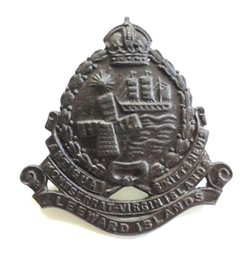 Leeward Islands Battalion bronzed cap badge