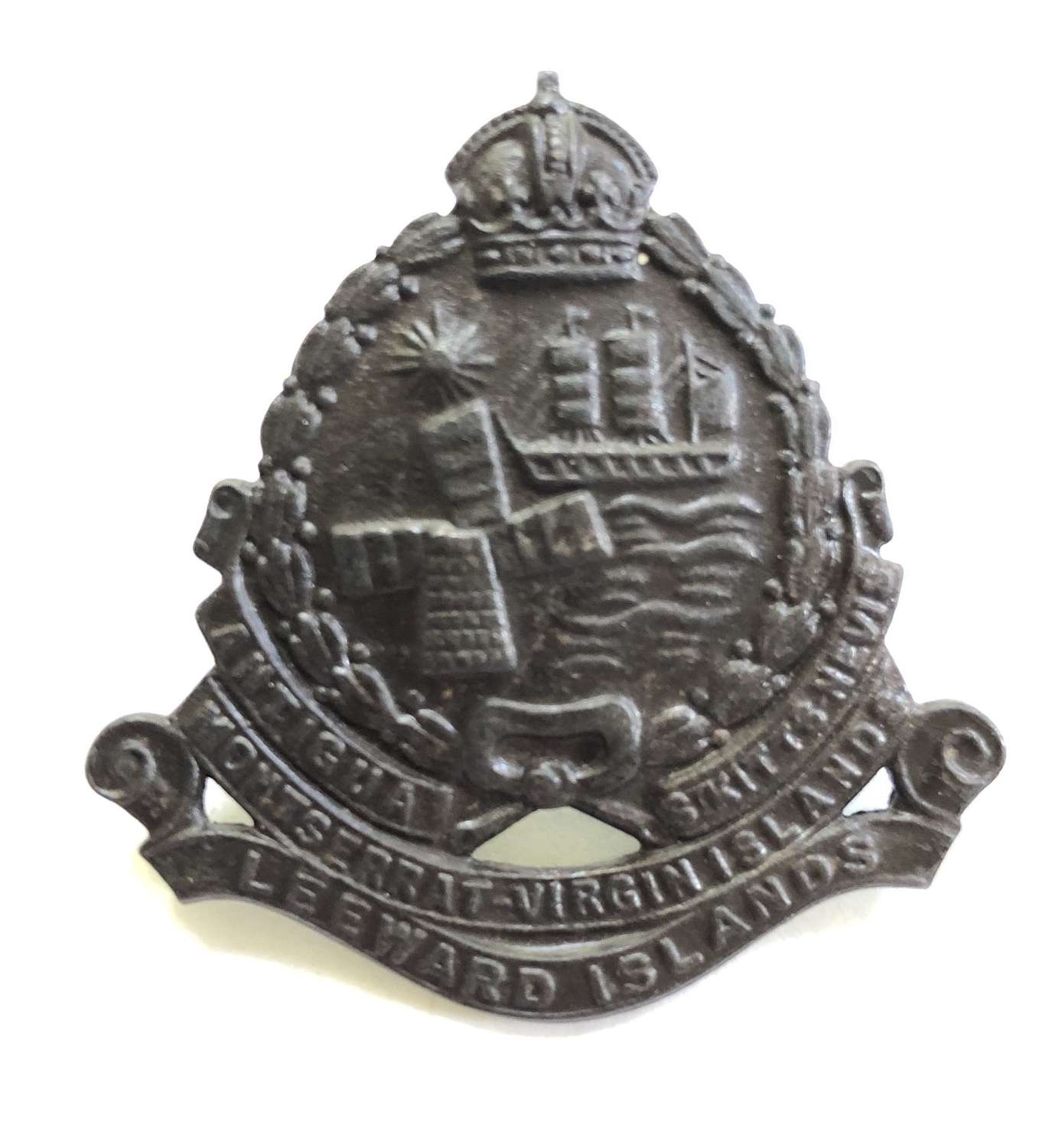 Leeward Islands Battalion bronzed cap badge
