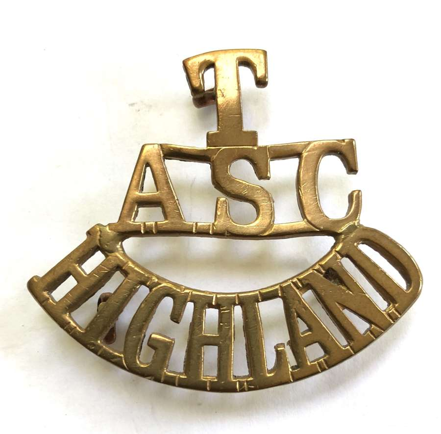T / ASC / HIGHLAND  Army Service Corps Scottish shoulder title