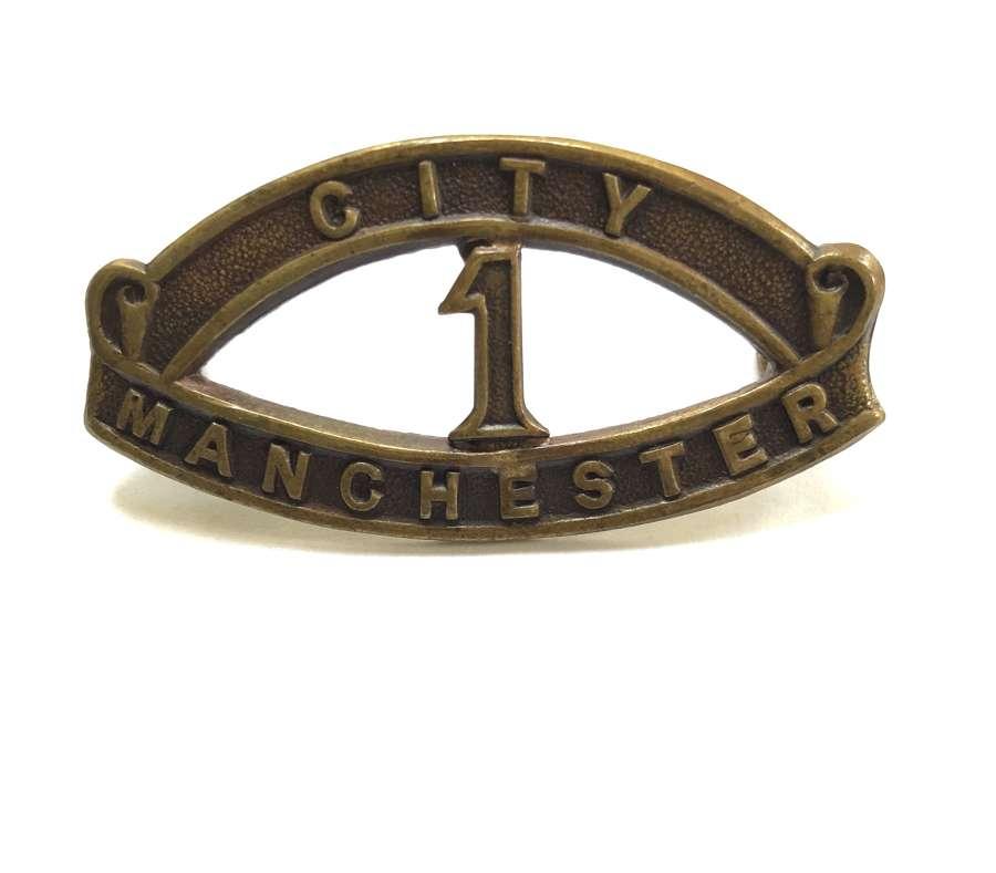CITY/1/MANCHESTER Pals Kitchener 's Army shoulder title