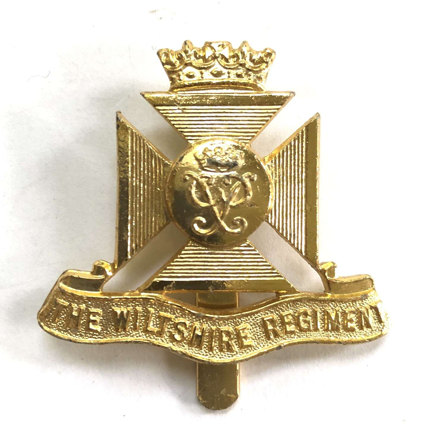 Wiltshire Regiment anodised cap badge circa 1954-59