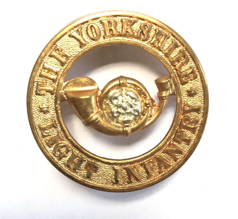 The Yorkshire Light Infantry OR's helmet plate centre c1887-1914
