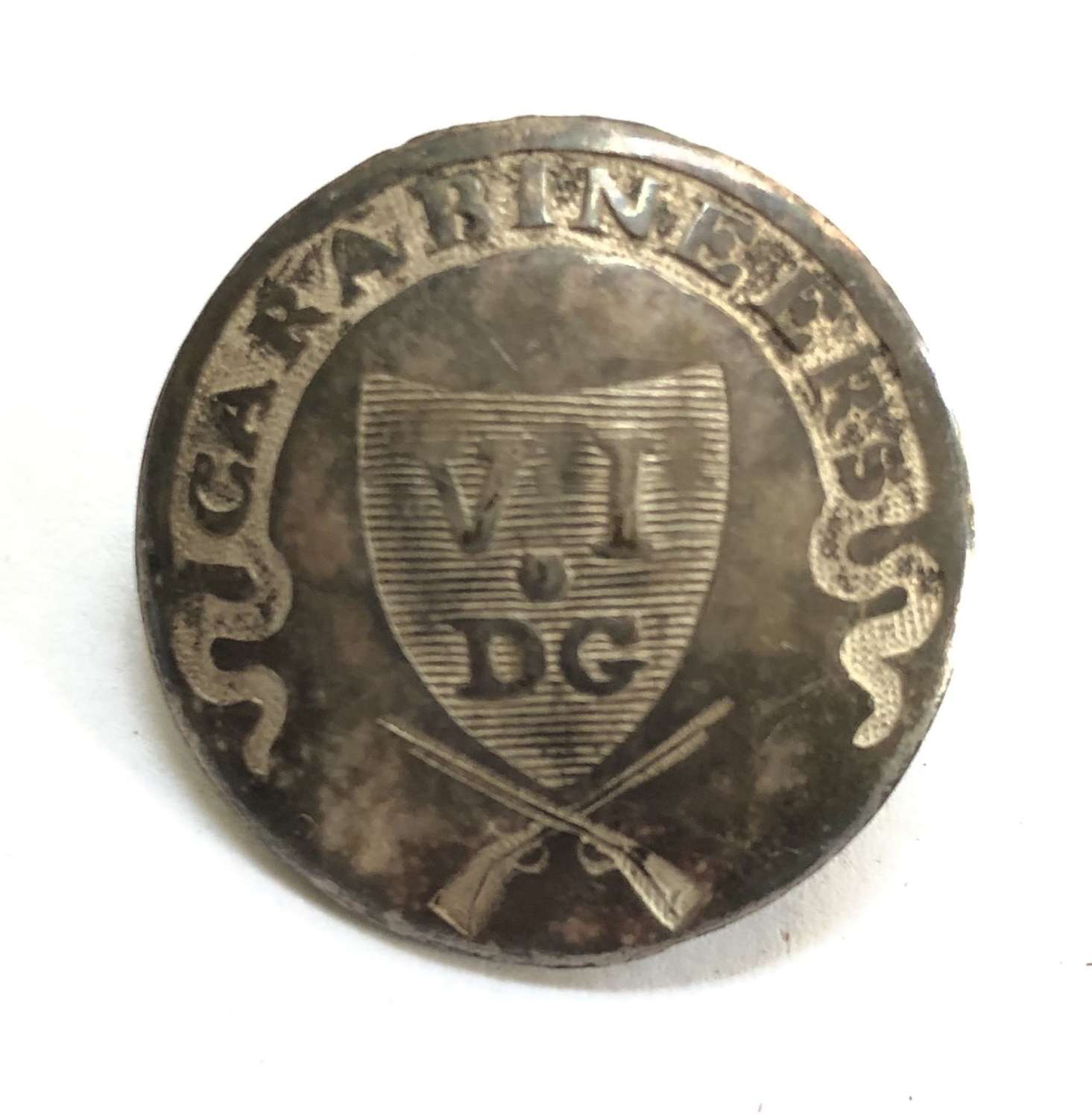 6th Dragoon Guards (Carabiniers) Georgian Officer's coatee button