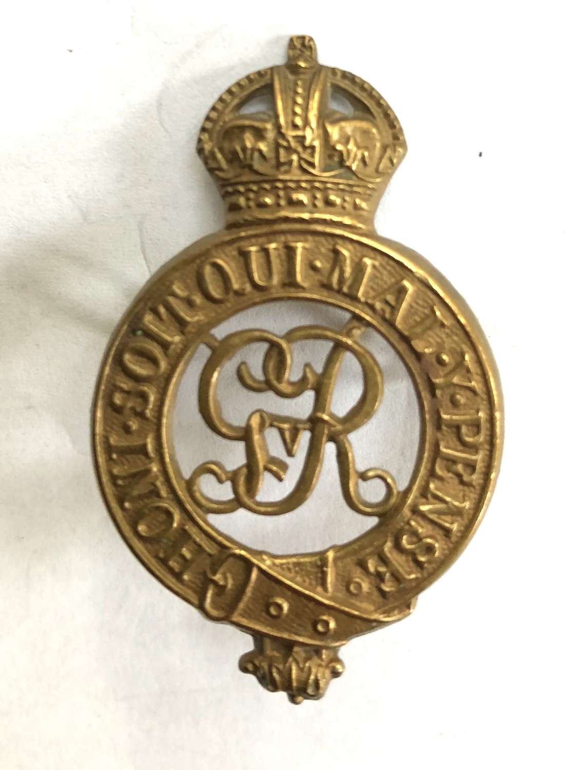 Household Cavalry GvR scarce OR's cap badge.