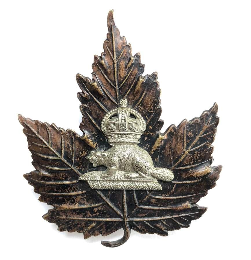 Canada. Toronto Police early helmet plate