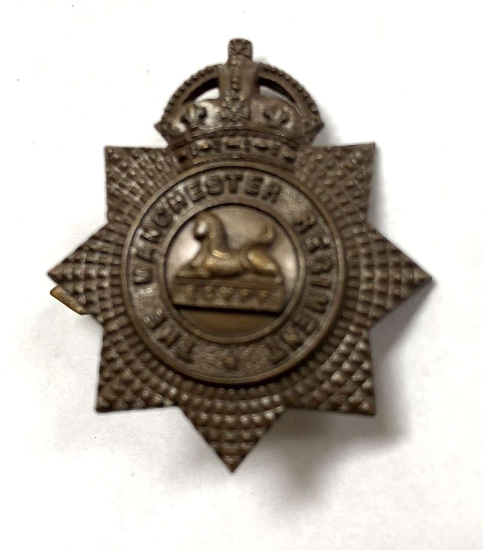 Manchester Regiment OSD bronze field service cap badge