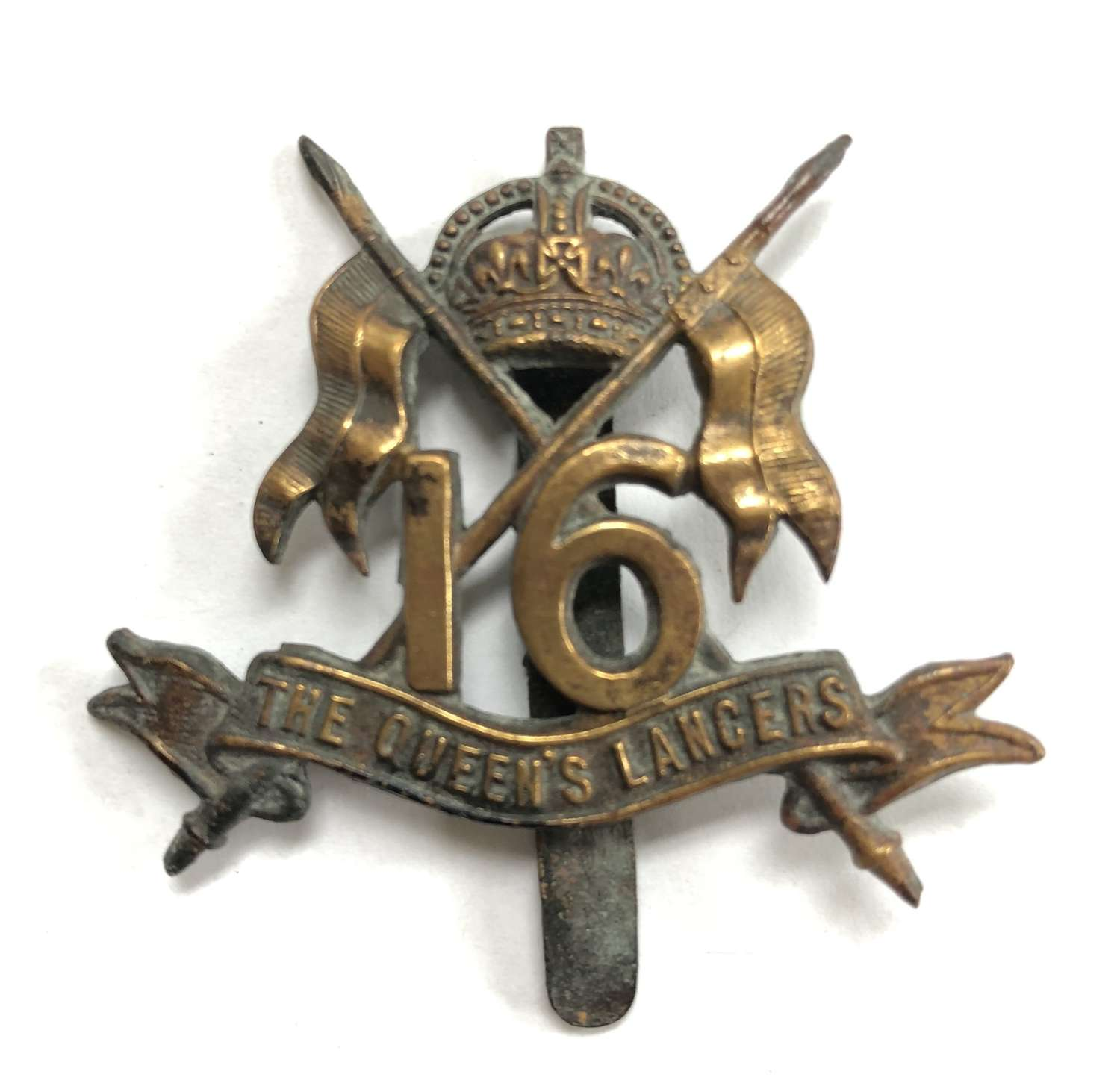 16th The Queen's Lancers all brass economy issue circa 1916-18