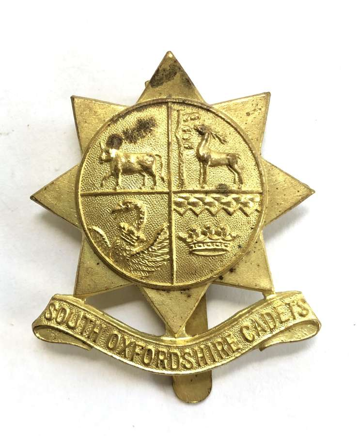 South Oxfordshire Cadets cap badge by J.R .Gaunt, London