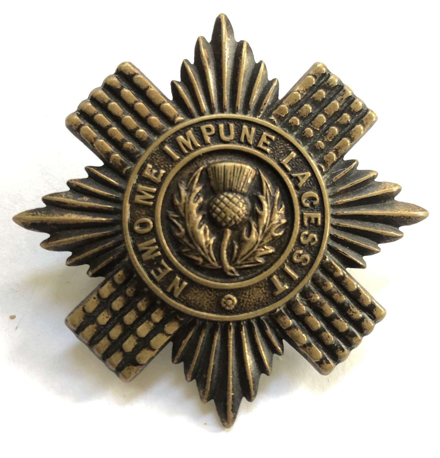Scots Guards scarce OR's Brodrick cap badge circa 1902-05