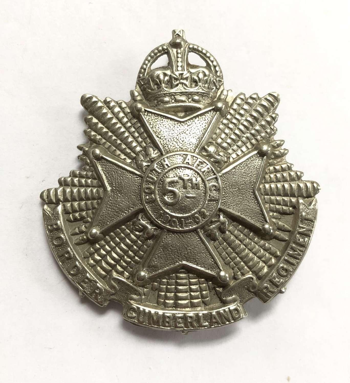 5th (Cumberland) Bn. Border Regiment post 1908 OR's cap badge