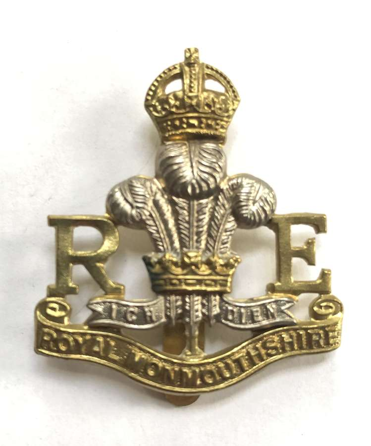 Royal Monmouthshire Royal Engineers (Militia) cap badge by Gaunt