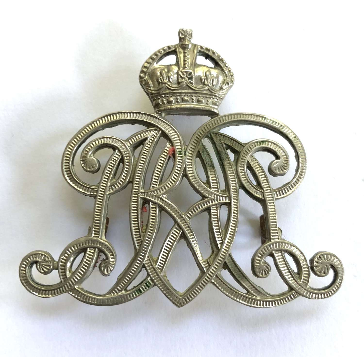 9th Queen's Royal Lancers NCO's white metal arm badge circa 1901-52