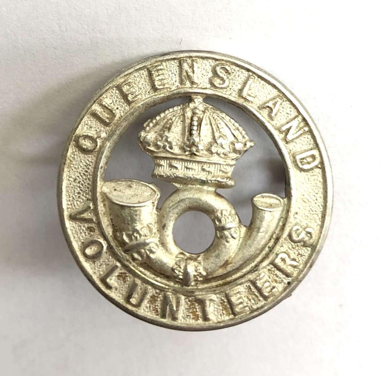 Australia. Queensland Volunteers Victorian Officer's hat badge
