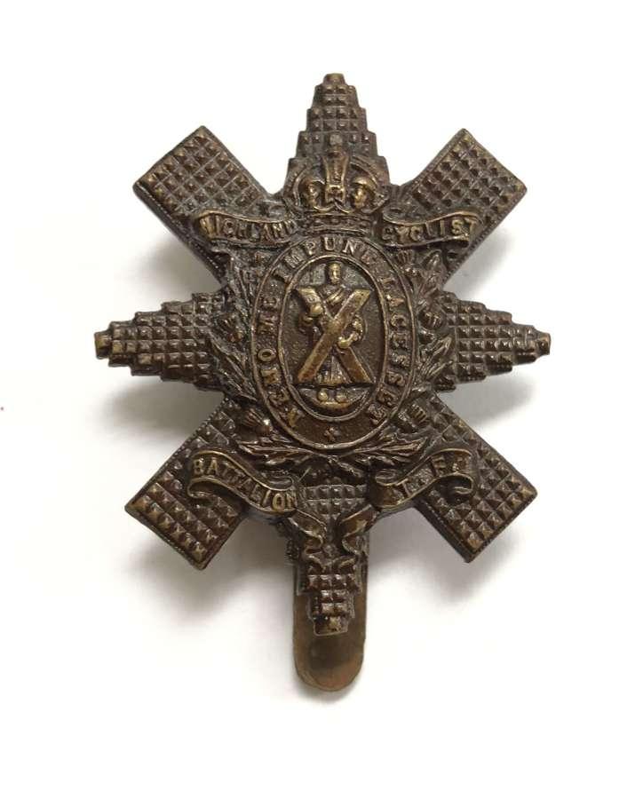 Highland Cyclist Battalion scarce OSD bronze cap badge c1909-19