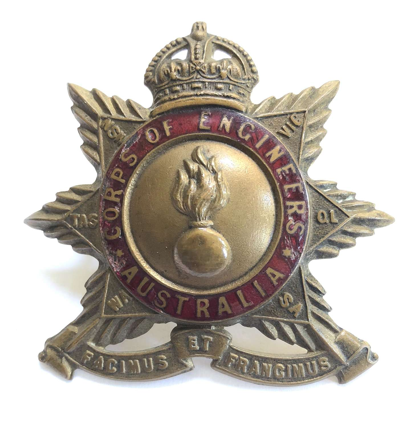 Australian Corps of Engineers Officer's hat badge circa 1901-12