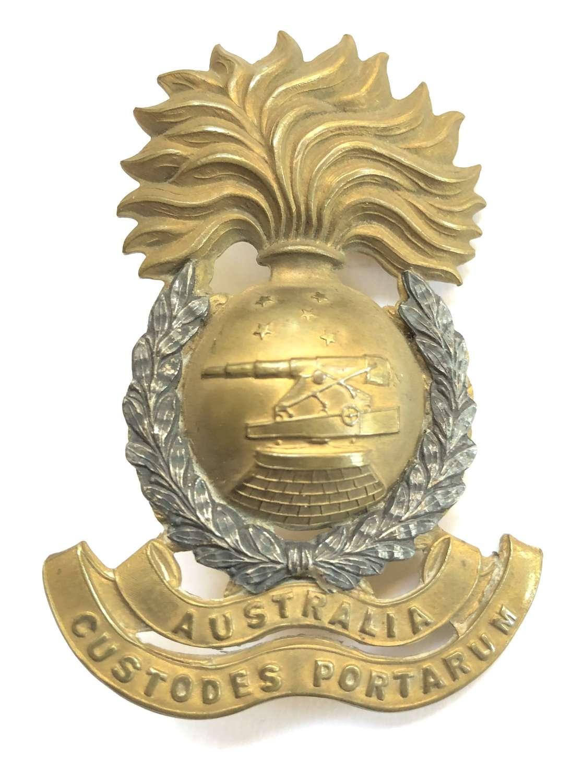 Australian Garrison Artillery (Militia) Officer's hat badge c1901-12